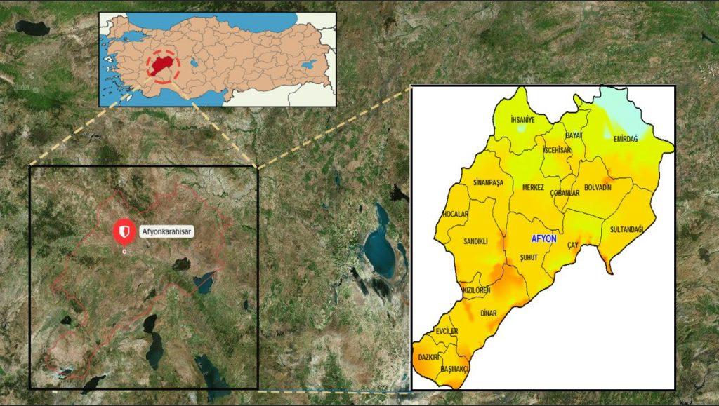 Afyonkarahisar ilçeleri harita