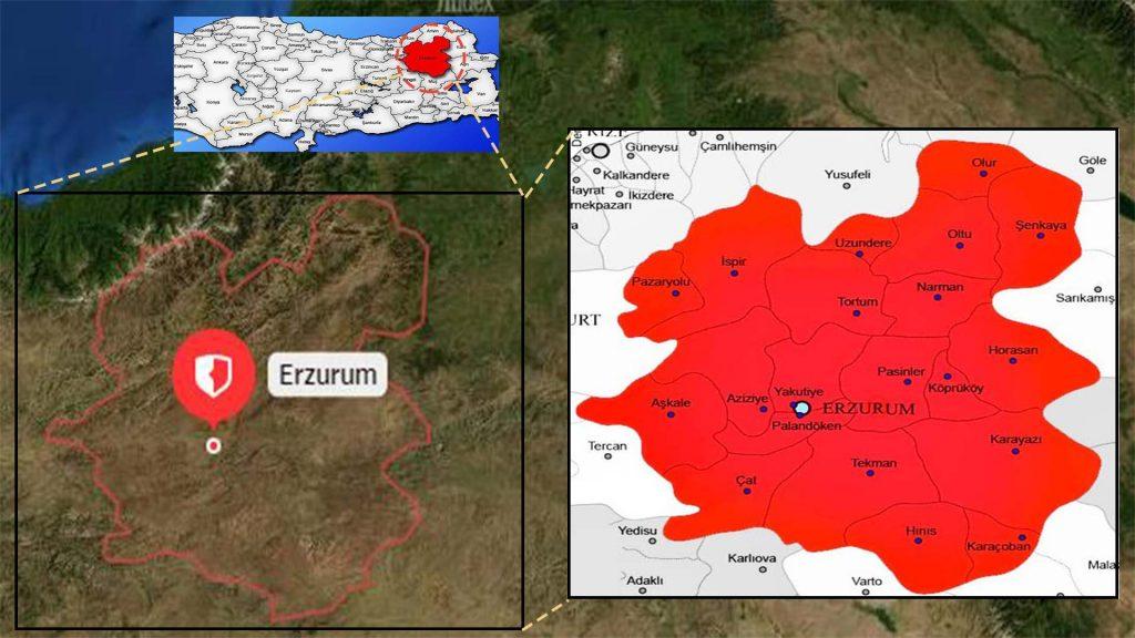 erzurum ilçe haritası