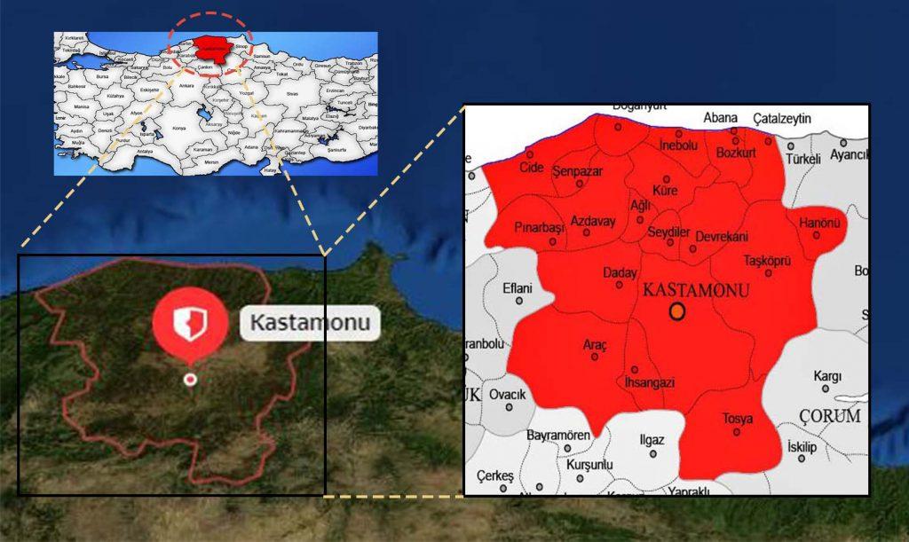 kastamonu ilçe haritası