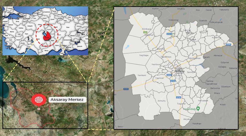 Aksaray merkez mahalle haritası
