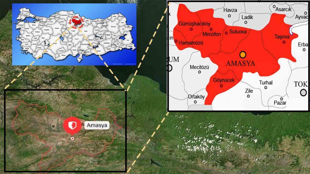 amasya ilce haritası
