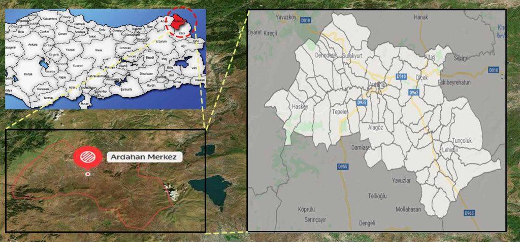 ardahan merkez mahalle haritası