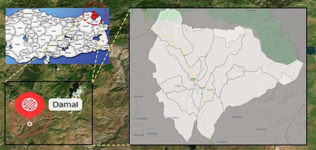 damal mahalle haritası