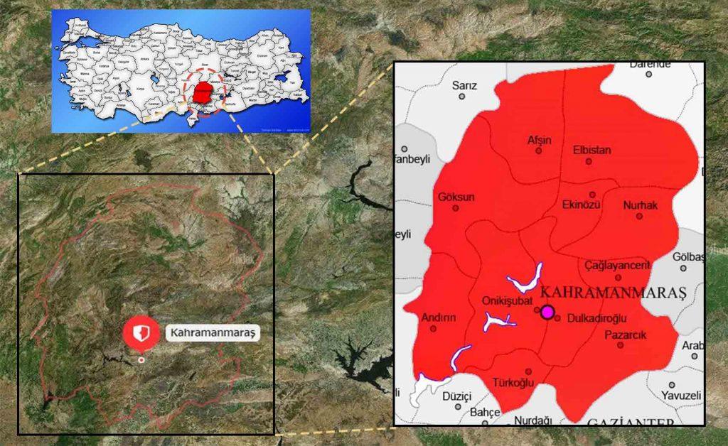 maras ilce haritası