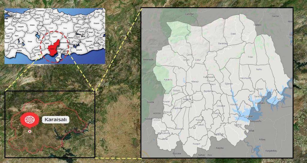 karaisalı mahalle haritası