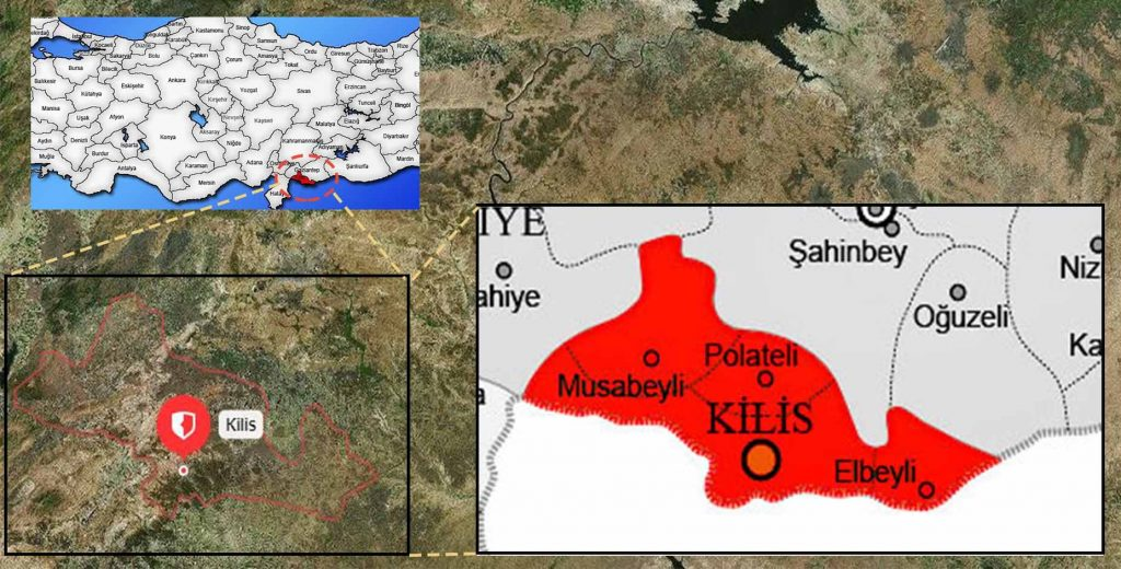 kilis ilçe haritası