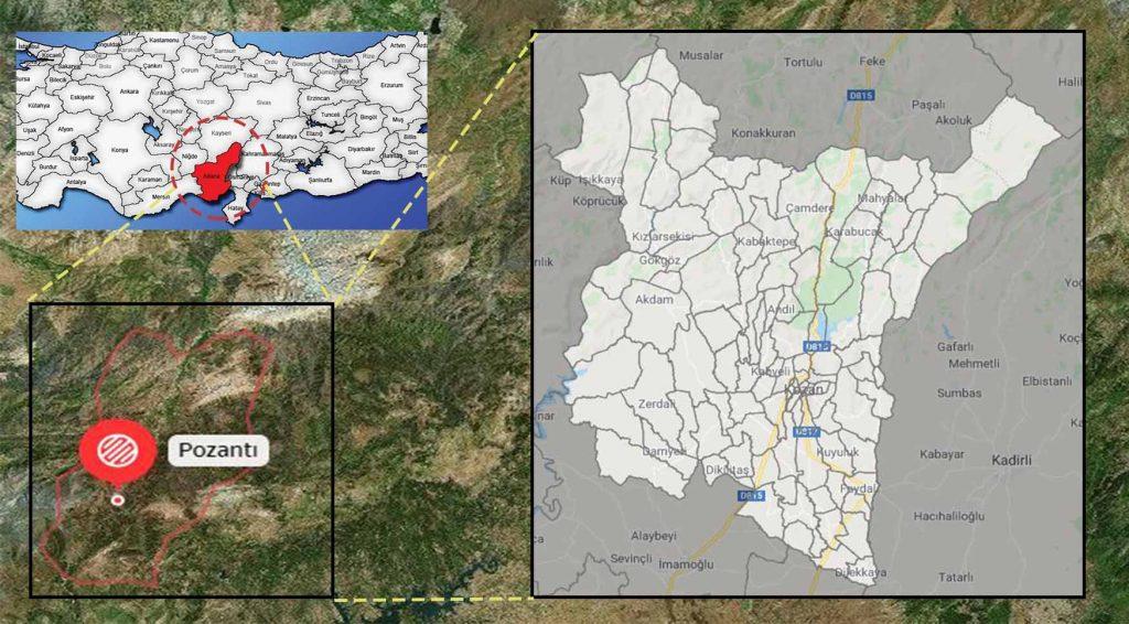 pozantı mahalle haritası