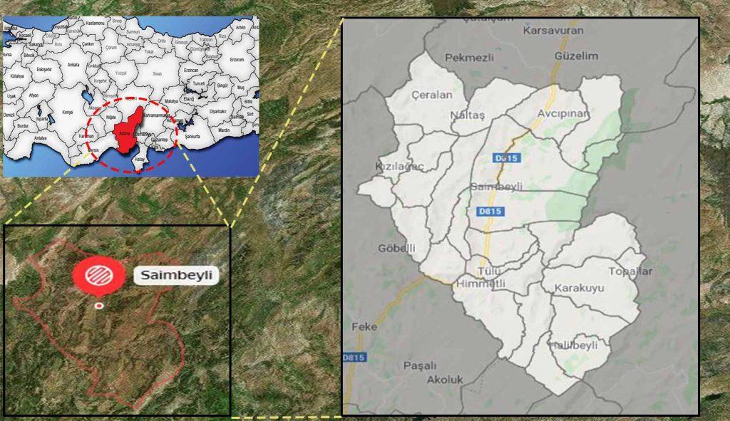 saimbeyli mahalle haritası