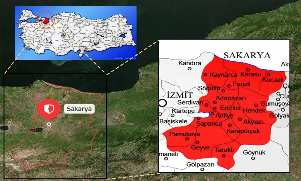 sakarya ilçe haritası