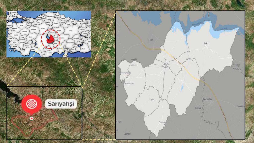 sarıyahşi mahalle haritası