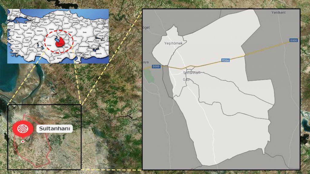 sultanhanı mahalle haritası