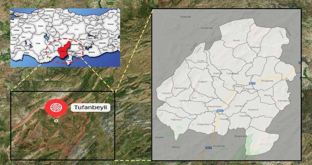 tufanbeyli mahalle haritası