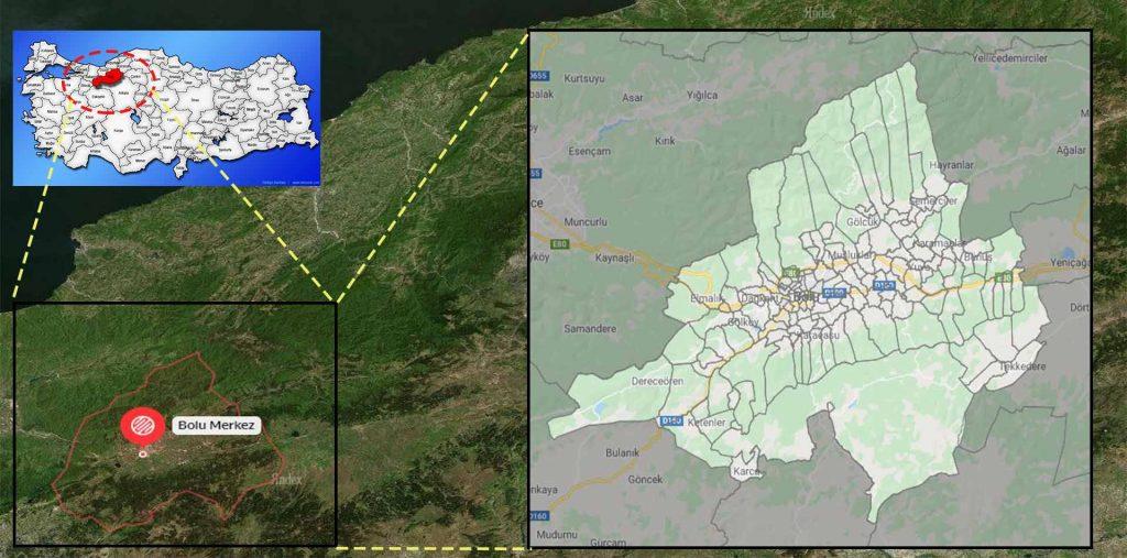 Bolu merkez mahalle haritası