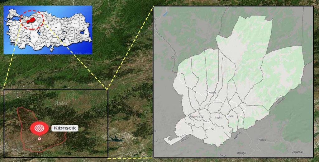 kıbrıscık mahalle haritası