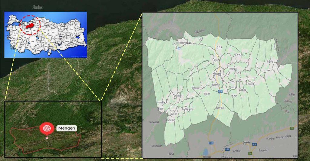 mengen mahalle haritası