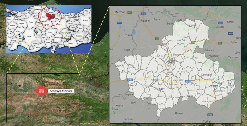 amasya merkez mahalle haritası