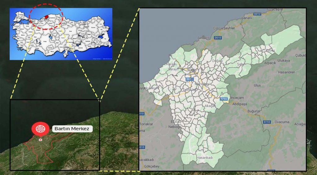 bartın merkez mahalle haritası