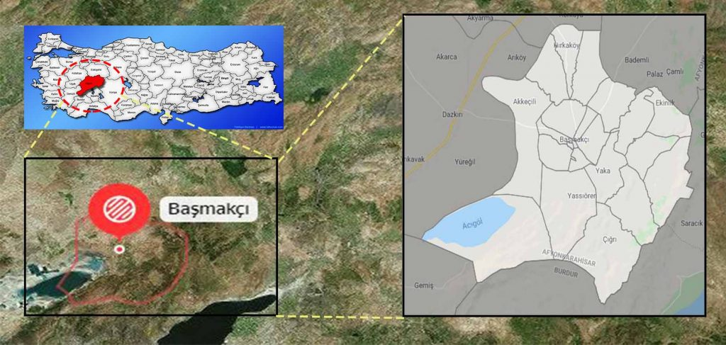 başmakçı mahalle haritası