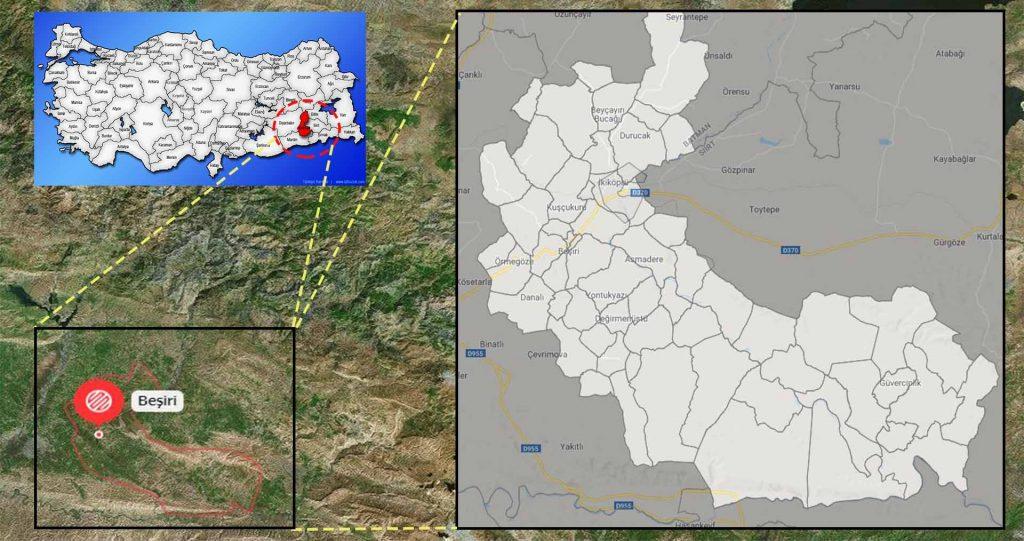 beşiri mahalle haritası