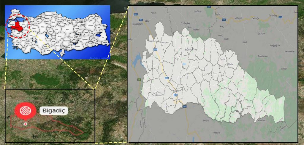 bigadiç mahalle haritası