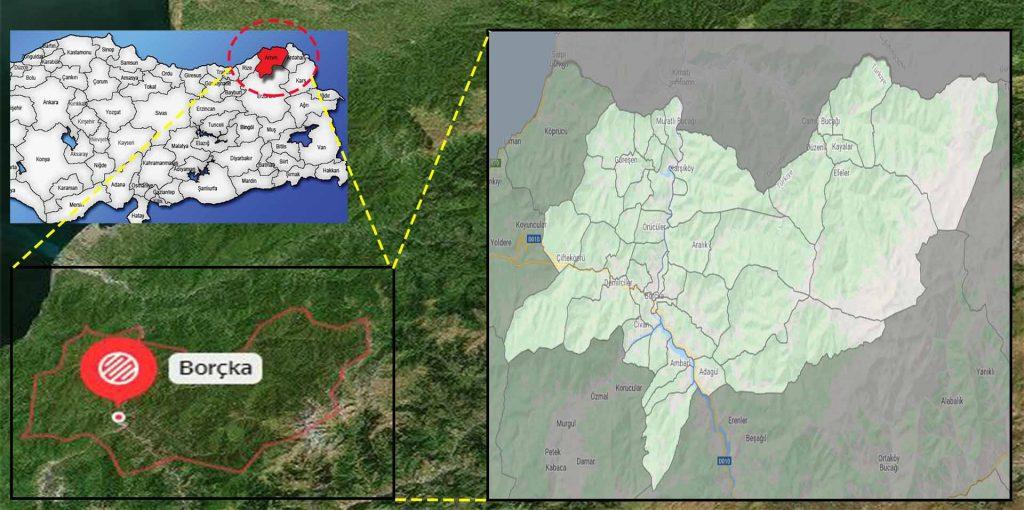 borçka mahalle haritası