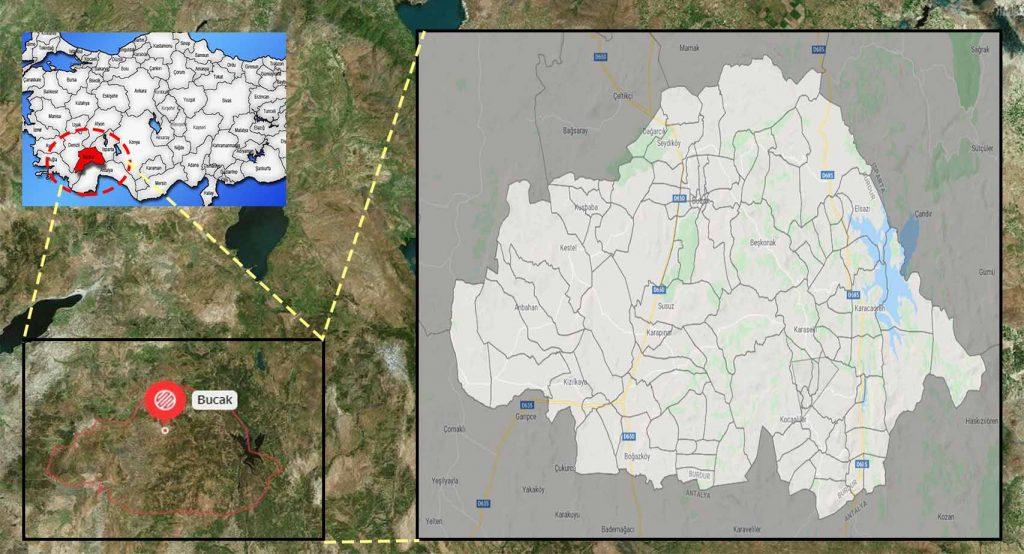 bucak mahalle haritası