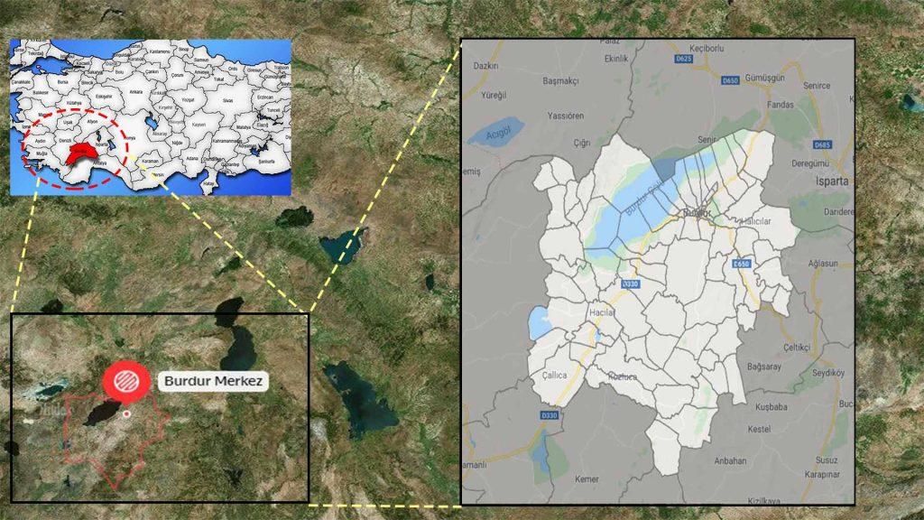 burdur merkez mahalle haritası