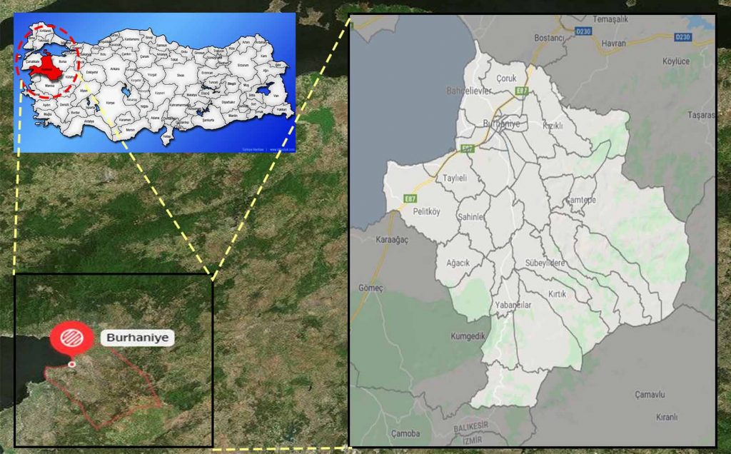 burhaniye mahalle haritası