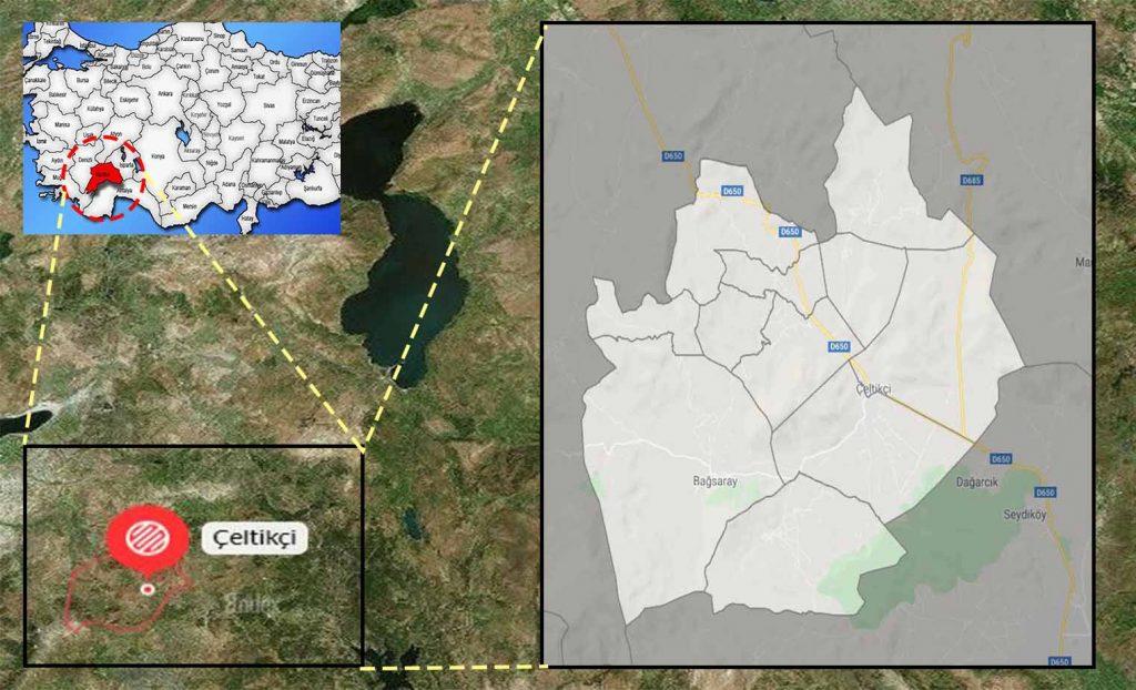 çeltikçi mahalle haritası
