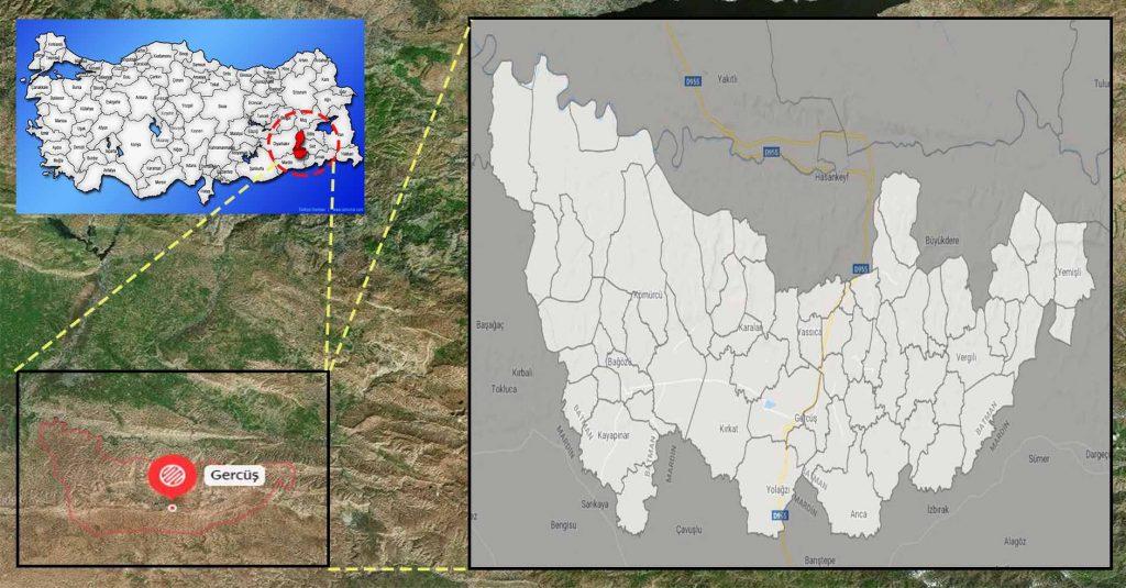 gercüş mahalle haritası