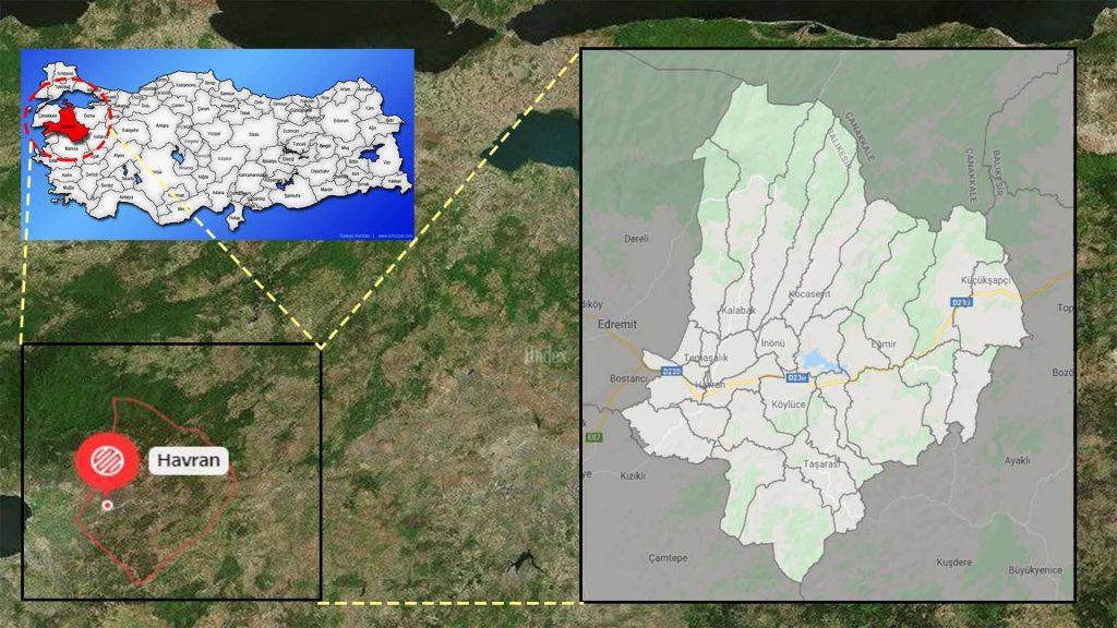 havran mahalle haritası