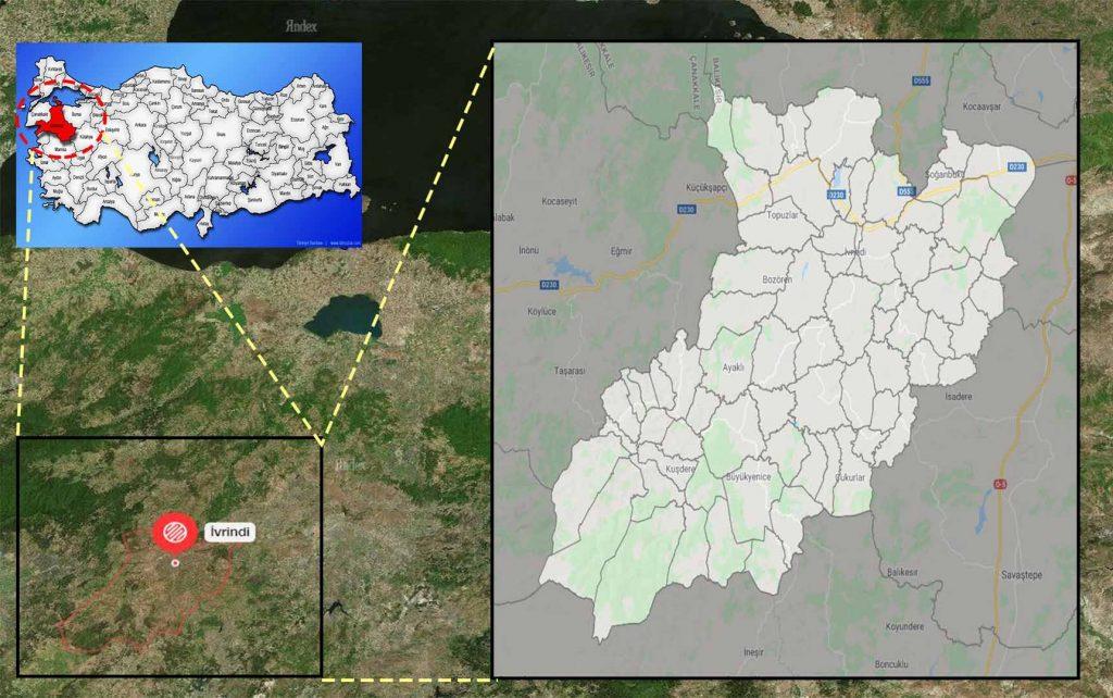 ivrindi mahalle haritası