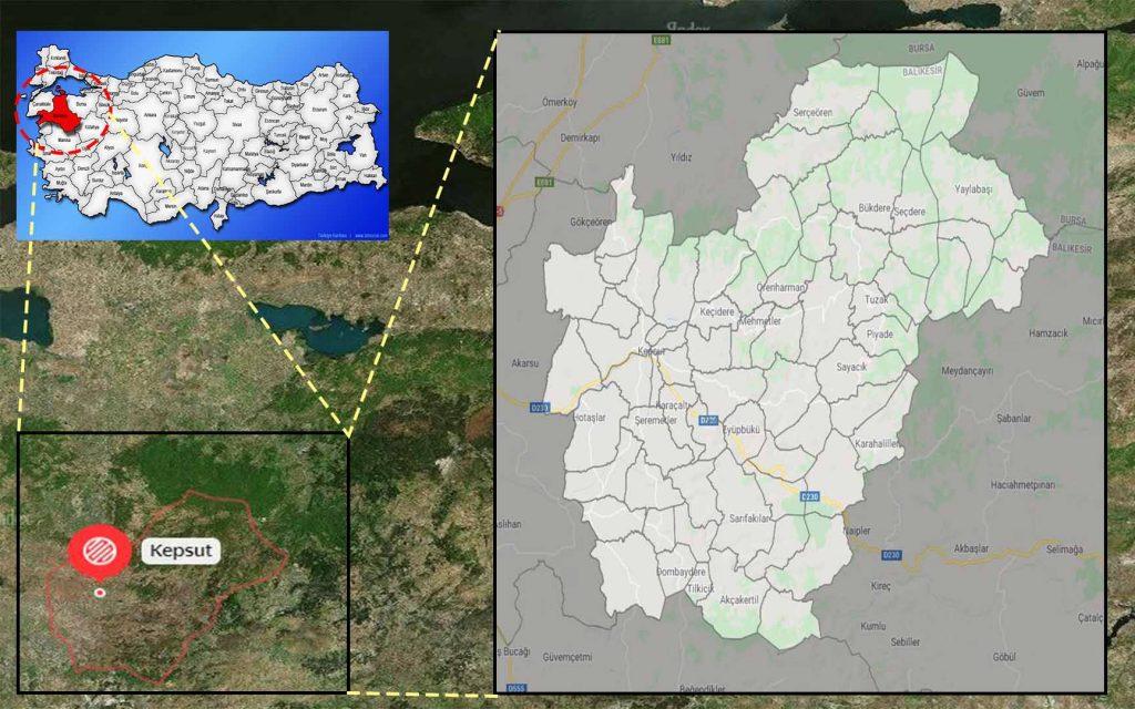 kepsut mahalle haritası