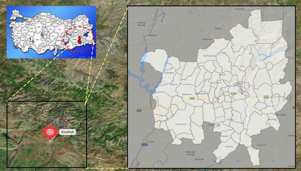 kozluk mahalle haritası