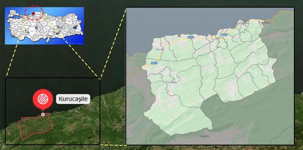 kurucaşile mahalle haritası