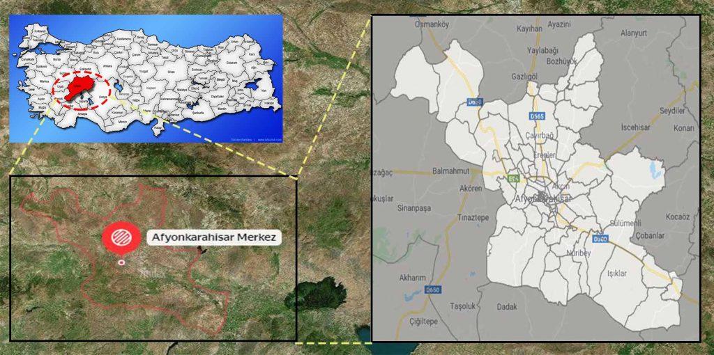 afyon merkez mahalle haritası