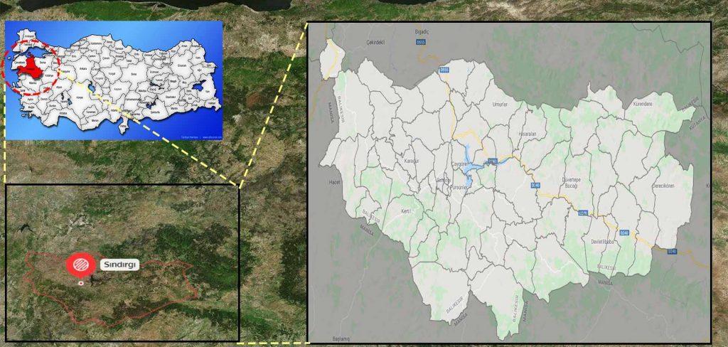 sındırgı mahalle haritası