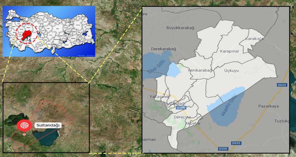 sultandağı mahalle haritası