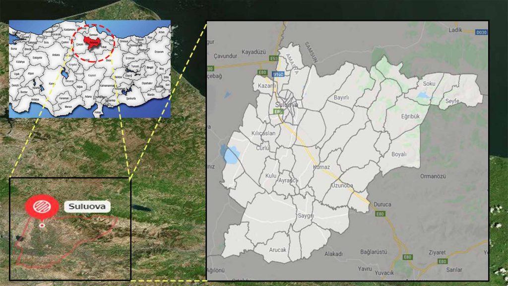 suluova mahalle haritası