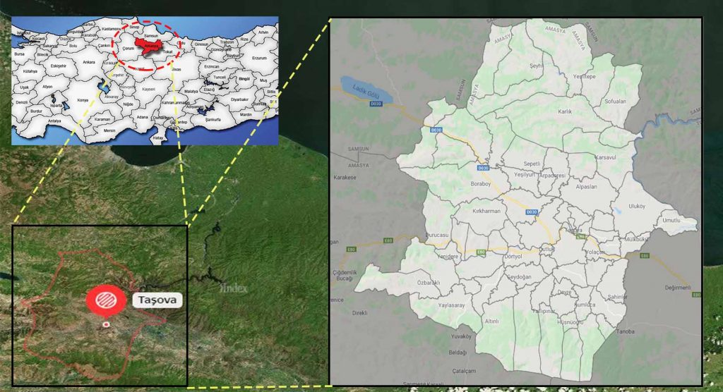taşova mahalle haritası