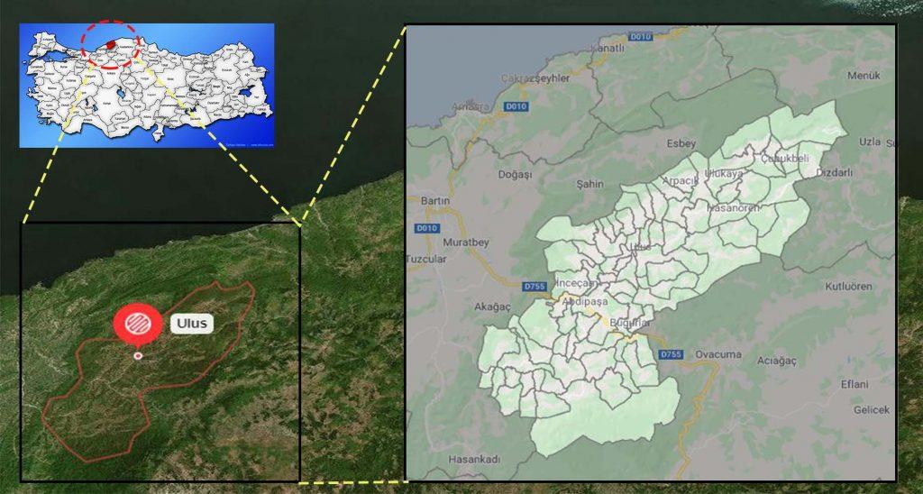 ulus mahalle haritası