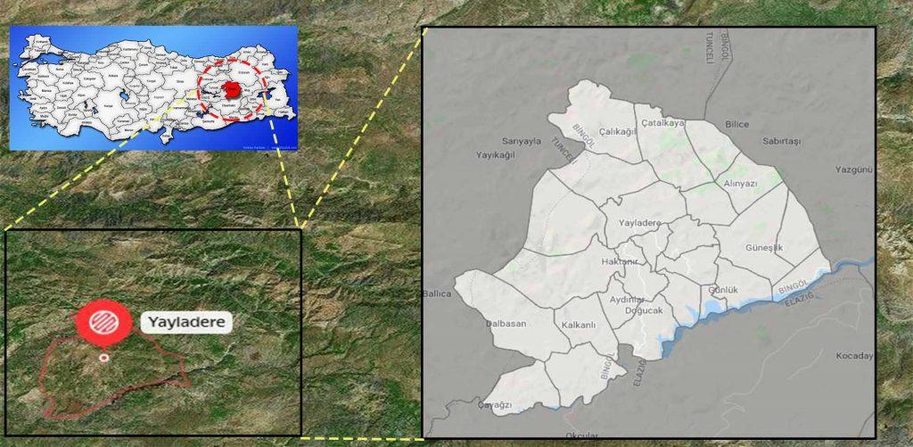 Yayladere mahalle haritası