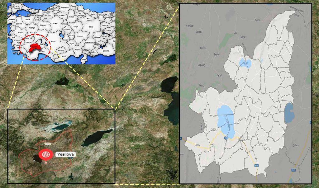 yeşilova mahalle haritası