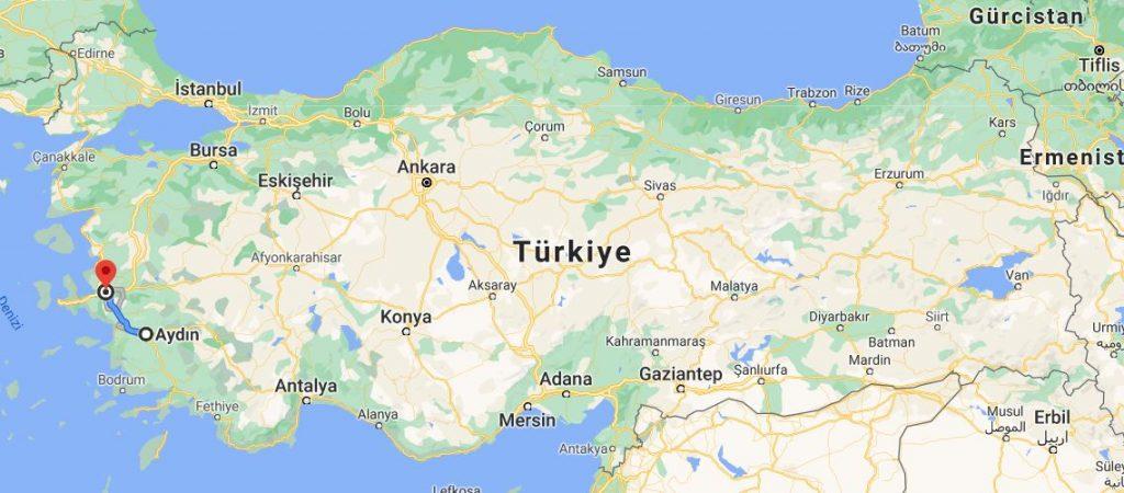 İzmir Aydın Arası Kaç KM