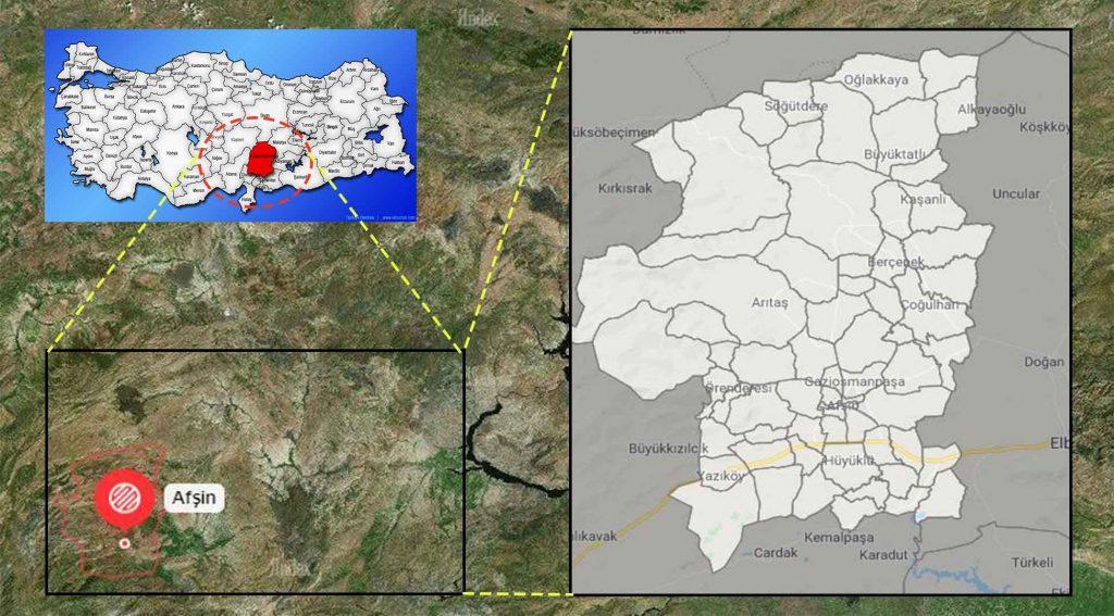 Afşin mahalle haritası