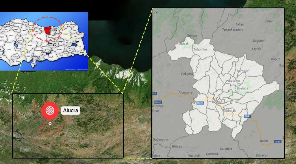 Alucra mahalle haritası