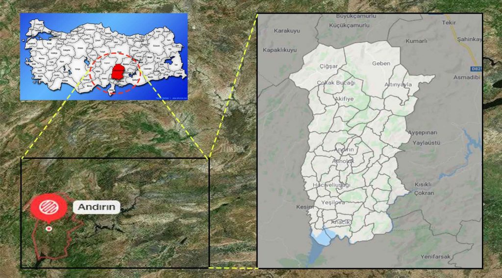 Andırın mahalle haritası
