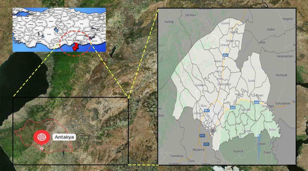 Antakya mahalle haritası