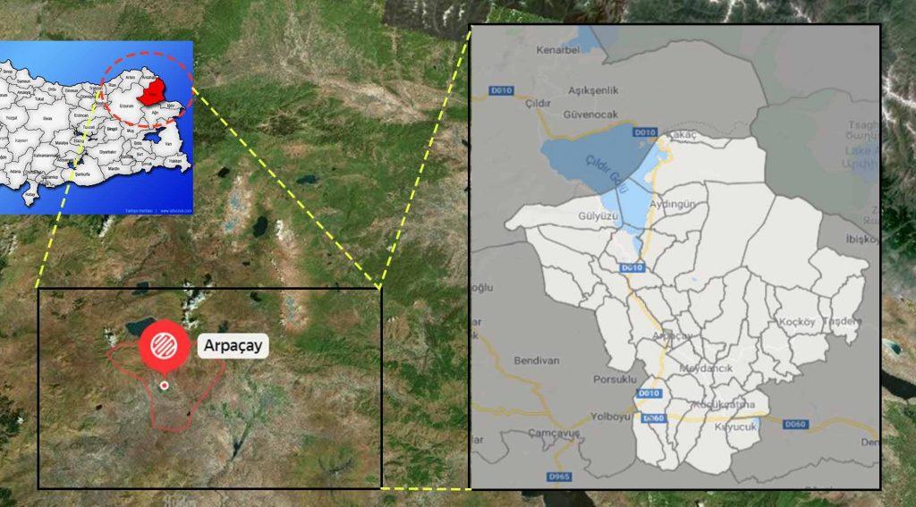 Arpaçay mahalle haritası