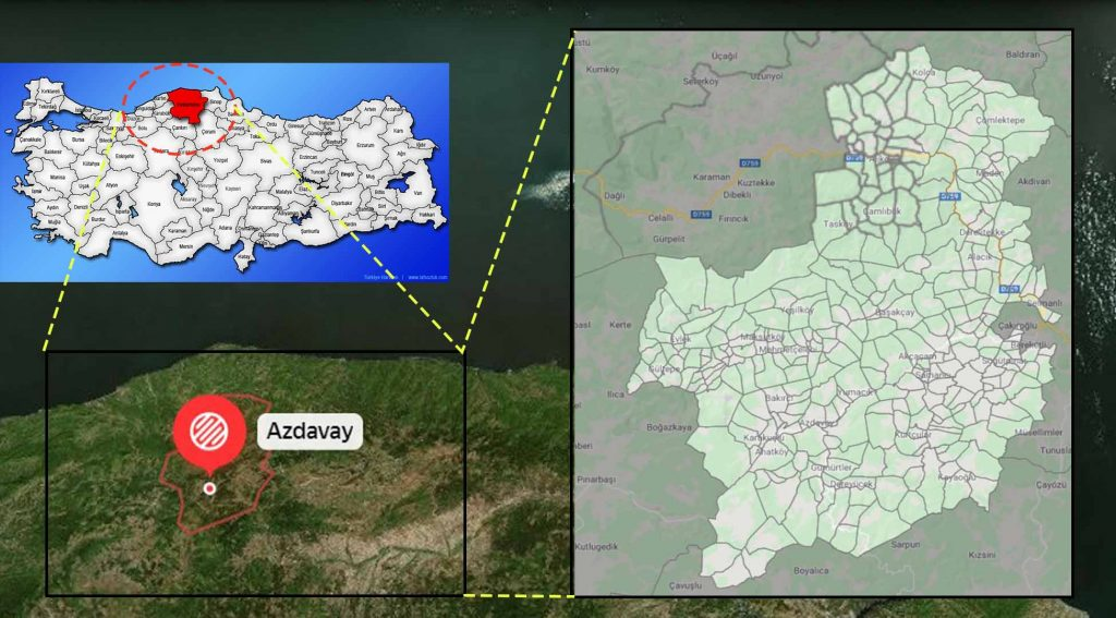 Azdavay mahalle haritası